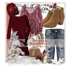 """Winter Wanderlust with American Eagle: Contest Entry"" by nancyreo ❤ liked on Polyvore featuring American Eagle Outfitters and aeostyle"