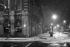 a snowy night*