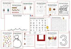 Sinterklaaspakket kleuters. Diverse werkbladen op het gebied van taal, rekenen, tekenen en knutselen. Van alles en nog wat dus!