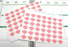 42 Piggy Bank Saving Reminder Planning Stickers For Your Life Planner