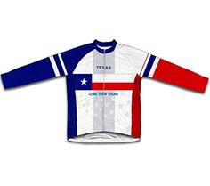 Texas Flag Long Sleeve Cycling Jersey for Men  Size XL ** Find out more about the great product at the image link. (Note:Amazon affiliate link)
