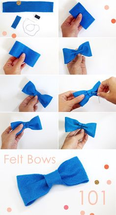 DIY felt bow instructions -- perfect for Mary Poppins costume or nerd costume Nerd Party, Make A Bow Tie, How To Make Bows, Diy Costumes, Halloween Costumes, Costume Ideas, Diy Nerd Costume, Nerd Costumes, 50s Costume