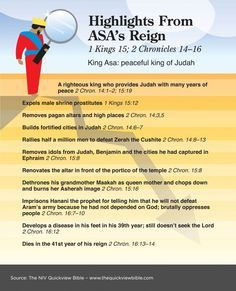 The Quick View Bible » Highlights From Asa's Reign - 2 Kings & 2 Chronicles