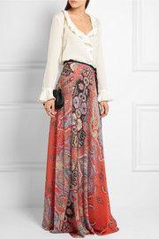EtroRuffled silk blouse