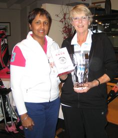 Dolly Dawson from Partridge Jewellers & 2015 overall nett winner, Patricia Farr