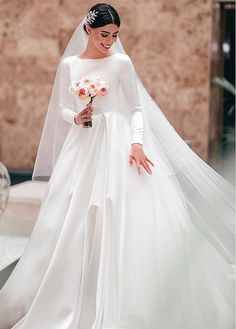 wedding dresses satin Wedding Dresses Simple, Marvelous Satin Bateau Neckline A-line Wedding Dresses Midi Bridal Uk Western Wedding Dresses, Modest Wedding Dresses, Bridal Dresses, Bridesmaid Dresses, Elegant Dresses, Sexy Dresses, Summer Dresses, Formal Dresses, Conservative Wedding Dress