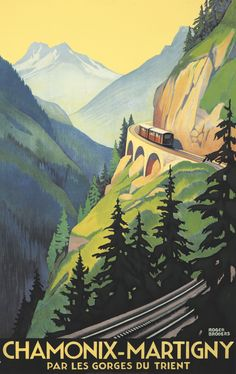 FRANCE - Chamonix-Martigny. ca. 1930 Roger Broders #Vintage #Travel