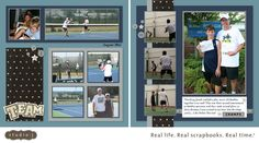 Especially like the right-hand page. My Scrap Happy Life: Scrappin' with Studio J Online Scrapbooking Software