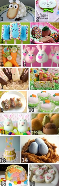 Cute Easter treats with links to recipes
