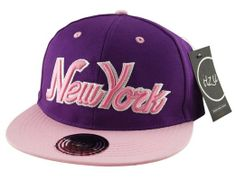 Kids (Boys   Girls) New York NY Snapback Baseball Cap Hat (Youth) in Pink  Black Blue Purple (Black and Pink NY Block (Itzu))  Amazon.co.uk  Clothing 7758180bca4f