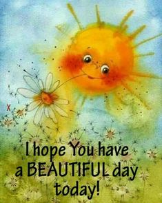 Good Morning All:) Good Morning Sunshine, Good Morning Good Night, My Sunshine, Good Morning Quotes, Art Soleil, Art Fantaisiste, Illustrator, My Sun And Stars, Sun Art