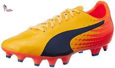 Puma Evospeed 17.2 LTH FG, Chaussures de Football Homme, Jaune (Ultra Yellow-Peacoat-Orange Clown Fish 02), 40 EU