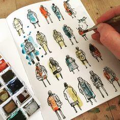 52 ideas for fashion portfolio book drawings Arte Sketchbook, Sketchbook Pages, Fashion Sketchbook, Sketchbook Ideas, Travel Sketchbook, Sketch Journal, Artist Journal, Journal Design, Kunstjournal Inspiration