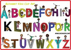 Alphabet Kids Clip Art - Clipart Commercial Use OK
