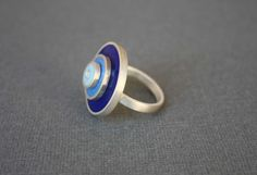 Statement Ring:  Sterling Silver Round Retro Ring-One of a kind size 8.5 only.