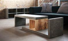 Concrete Square Wood 2 / Betonmöbel