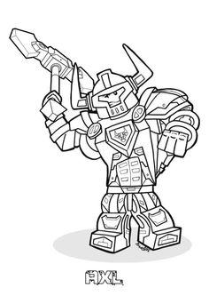 Ausmalbild Lego Nexo Knights - Lego Nexo Knights                                                                                                                                                     More