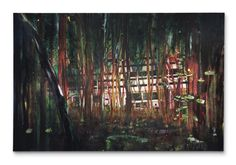 "Peter Doig, ""Cabin Essence"" (1993-4).COURTESY CHRISTIE'S"