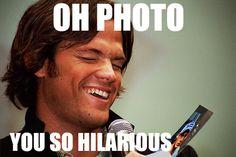 Oh, Photo #SupernaturalCast #JaredPadalecki #JaredMeme