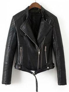 Up to 70% OFF! Faux Leather Belted Biker Jacket. #Zaful #fashion #style #sweater #hoodies #sweatshirts #tops #womens tops #outfits #jackets #coats #outwear #leatherjackets #bomberjacket #pufferjacket #coatsjackets #downjacket #wintercoats #womenscoats #winterjackets #longcoats #denimjacket #blackjackets #jeanjacket #denimshirt #cashmerejumpers #womenfashion #winteroutfits #winterfashion #falloutfits #fallfashion #halloweencostumes #halloween #halloweenoutfits @zaful Extra 10% OFF Code:ZF2017