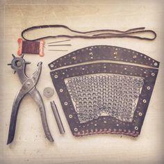 [ ] May the assembly begin - Lagertha's Bracer _____________________________________________________________ Viking Cosplay, Viking Costume, Renaissance Costume, Cosplay Diy, Viking Armor, Viking Dress, Lagertha Costume, Vikings Lagertha, Leather Bracers