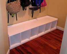 mudroom entranceway bench. Mud locker bench with storage