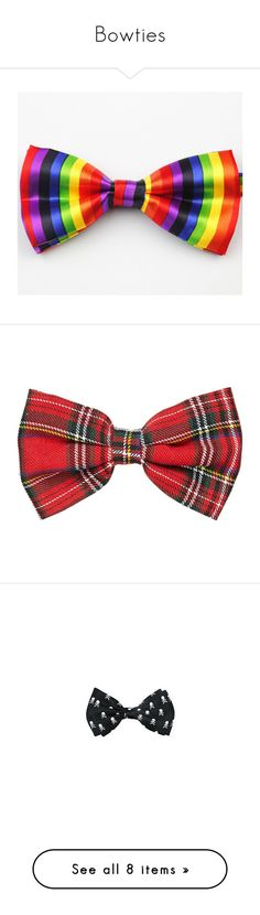 """""""Bowties"""" by trancyfancy ❤ liked on Polyvore featuring men's fashion, men's accessories, men's neckwear, bow ties, accessories, hair accessories, bows, hair, fillers and red hair accessories"""