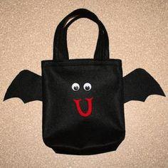 Bat Felt Trick-Or-Treat Bag - Sherri Osborn