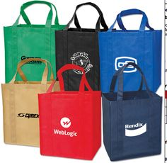 """$0.50 Vertical Large Grocery Tote Red 13"""" X 15"""" X 9"""" 3/4 Blank No Logo At Liquidationprice.com"""