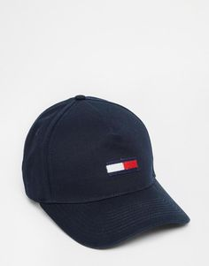 59166b73c4a Cap by Tommy Hilfiger Domed crown Logo embroidery Curved peak Adjustable  fastening Wipe with a damp cloth Cotton