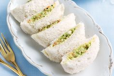 Whip up these delicious high tea sandwiches (avocado and prawn pillows) in super fast time to create an elegant afternoon tea. http://www.taste.com.au/recipes/28343/avocado+and+prawn+pillows