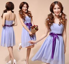Strapless Sweatheart Knee Length Bridesmaid Dresses Party Dress A-Line Wedding Dresses | Buy Wholesale On Line Direct from China