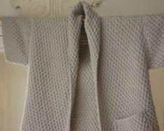 Tuto gratuit d'une veste-femme au point de blé qui se tricote avec des aiguilles 7 mm