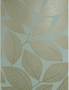 MissPrint Pebble Leaf Wallpaper, Blue