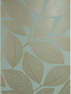 MissPrint Pebble Leaf Wallpaper, Blue