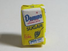Dollhouse Miniature - 5 lb. Bag of Sugar  for the dollhouse #HUDSONRIVER