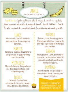 Tenemos un nuevo calendario de cupcakes y nuevo sabor del mes: plátano. Prueba nuestro delicioso cupcake de plátano, banana pudding, muffins y pay de plátano ¡disponibles en tienda todos los días junto con nuestros sabores clásicos! #MagnoliaBakeryMX #abril #sabordelmes