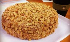 golden gaytime cake. Buttercake, caramel creamcheese filling, chocolate icing, crushed malt biscs. :)  yummy.