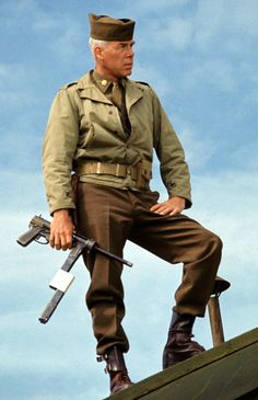 Lee Marvin in The Dirty Dozen - Maj. Reisman's character was cast for John Wayne at first, and accepted, but The Duke left to film The Green Berets when script changes he wanted were not made.