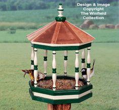 Gazebo Birdfeeder Woodworking Pattern