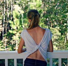Tutorial: come fare maglietta con scollo incrociato su schiena.