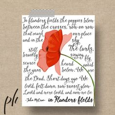 Printable Wall Art Remembrance Day Decor by printablehomeschool