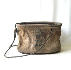 vintage 1940's klein tool bag 5144s canvas by RecycleBuyVintage, $30.00