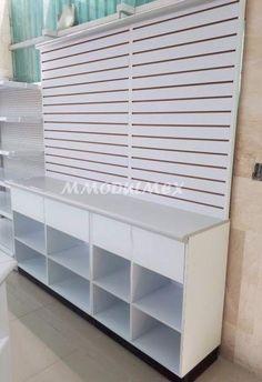 Muebles para papelería Boutique Decor, Boutique Interior, Mobile Shop Design, Lila Baby, Craft Booth Displays, Pharmacy Design, Shop Fittings, Shelf Design, Shop Interiors