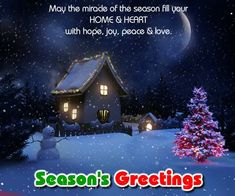 Season greetings wishes for peace on seasons free warm send this beautiful seasons greetings ecard to all and wish everyone a happy and fulfilling year ahead free online miracle of the season ecards on m4hsunfo