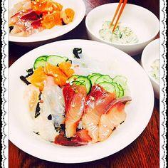 今日は塾なので 急いで 食べられる 丼で - 25件のもぐもぐ - 海鮮丼 by mame0302