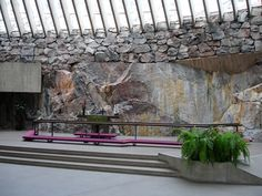 Temppeliaukio Kirkko (Rock Church) - Helsinki, Finland - This church is one of the most popular tourist attractions in the city; half a million people visit it annually. The stone-hewn church is located in the heart of Helsinki.