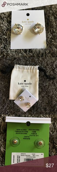 Kate Spade Large Studs ♠️ These studs dress up or down any outfit! Perfect year round accessory! kate spade Jewelry Earrings
