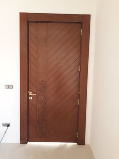 Front Door Design Wood, Wooden Door Design, Main Door Design, Modern Front Door, Bedroom Door Design, Bedroom Doors, Interior Design Photos, Interior Ideas, Diy Kitchen