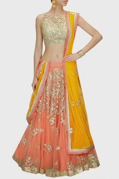 Looking for Lehenga Online: Buy Indian lehenga choli online for brides at best price from Andaaz Fashion. Choose from a wide range of latest lehenga designs. * Express delivery, Shop Now! Sari, Lehenga Choli, Net Lehenga, Lehenga Blouse, Sharara, Indian Dresses, Indian Outfits, Indian Clothes, Desi Clothes
